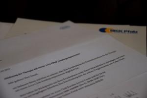 Ablehnungs schreiben von der BKK & Roche